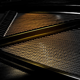 Strings of a Piano  by Richard Wilson - Artistic Objects Musical Instruments