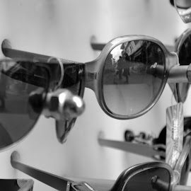 Reflections by Adyasha Nayak - Novices Only Objects & Still Life ( tags, sunglasses, black&white )