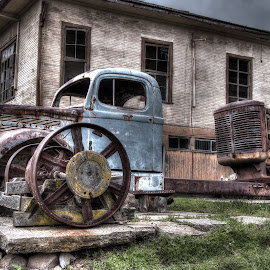 Ghost truck  by Paco Fernandez - Transportation Other ( old, village, hdr, truck, dark sky, abandoned,  )