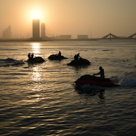 outdoor sport by Drrashid Taj - Sports & Fitness Watersports ( water, outdoor photography, sunset, reflections, darkness )