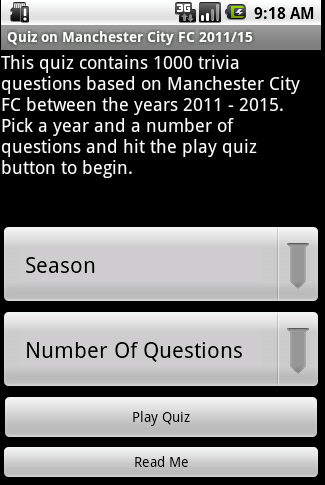 Quiz about Manchester City FC APK