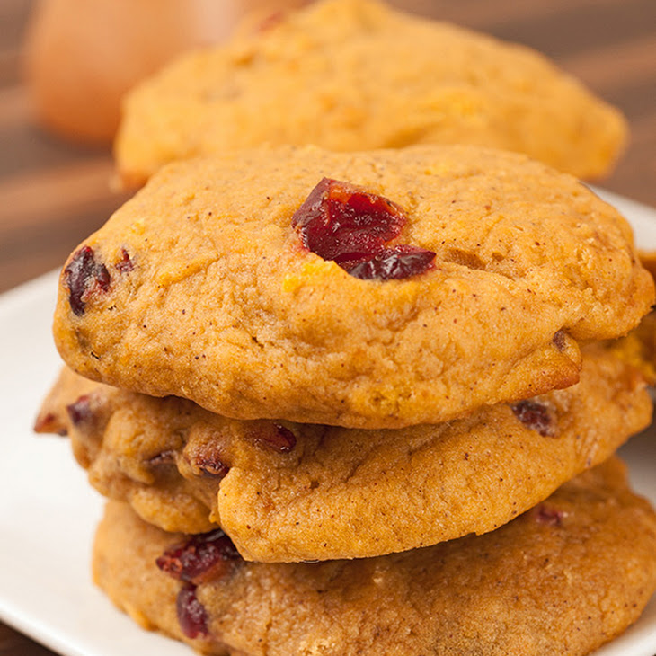 Spiced Pumpkin, Orange And Cranberry Cookies Recipe | Yummly