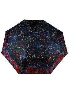"""Зонт """"Компакт S"""", бордово-черный"""