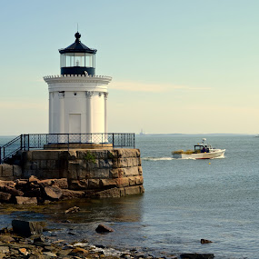 by Joe Fazio - Buildings & Architecture Public & Historical ( bug lighthouse, maine, portland, cumberland county, casco bay )