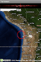 Screenshot of Terremoti ed alert