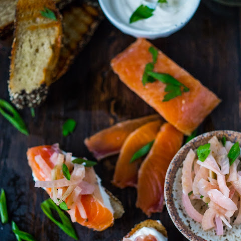 Salt Cured Salmon with Vodka, Juniper, Lemon & Rosemary