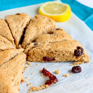 Lemon & Cherry Whole Wheat Scones