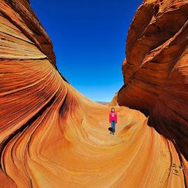 Entering The Wave by Brent Clark - Landscapes Deserts ( desert, the wave, wave, red rock, sandstone, beauty, landscape, paria canyon )