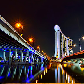 Between two bridges by Irwansyah St - Buildings & Architecture Bridges & Suspended Structures ( water, mbs, cityscape, bridges, landscape, pwcbridges )