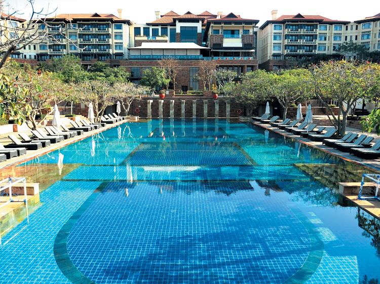 Pool area at Fairmont Zimbali