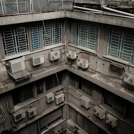 Dark angle  by May Nguyen - Buildings & Architecture Architectural Detail ( street, vietnam, saigon )