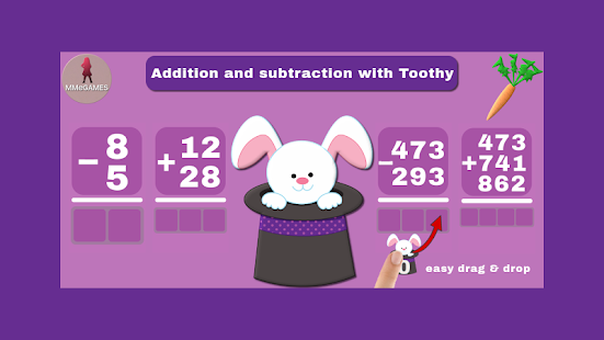 Addition subtraction Toothy Screenshot