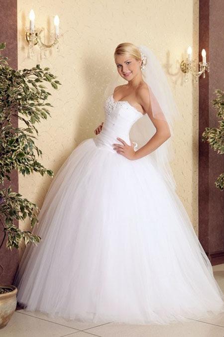 Не сильно пышные свадебные платья