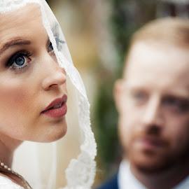 Fashionably  by Joseph Humphries - Wedding Bride & Groom ( vogue, love, blueeyes, fashion, wedding, bride, groom )