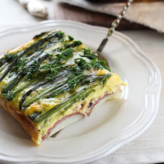 Asparagus and Salmon Egg Bake
