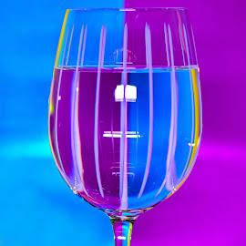 glass by Nicolai Tolstoguzov - Artistic Objects Glass ( glass, blue, reflection, purple, water,  )
