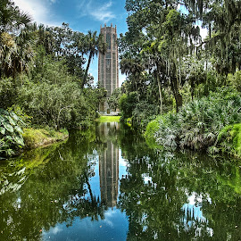 Bok Tower and Gardens, Lake Wales, Florida by Sandy Friedkin - Buildings & Architecture Public & Historical ( bell, tower, reflecting pool, gardens, landscape )