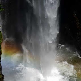 Rainbow waterfall by Danette de Klerk - Landscapes Waterscapes ( water, nature, waterfall, rainbow, photography,  )