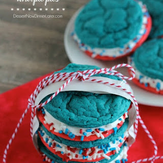 Red White and Blue Whoopie Pies