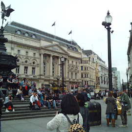 Piccadilly Circus, London  by Greta Vukelić - City,  Street & Park  Street Scenes ( tranquil, uk, life, london, relax, street, relaxing, people, crowd, city )