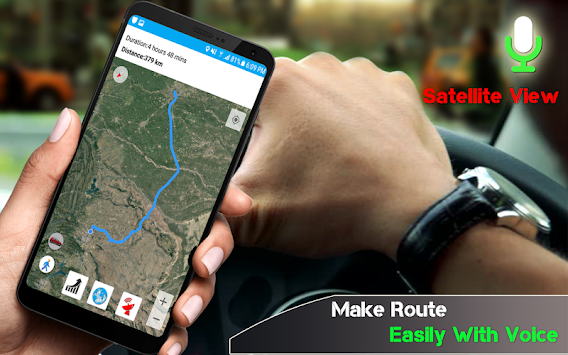 GPS Voice Driving Route Guide: Earth Map Tracking APK screenshot thumbnail 1