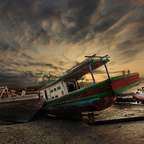 evening boats by Henry Pribadi - Transportation Boats