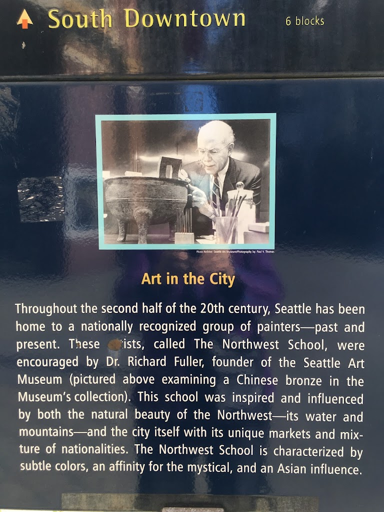 6 blocks Art in the City Throughout the second half of the 20th century, Seattle has been home to a nationally recognized group of painters-past and present. These artists, called The Northwest ...