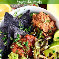 Vegetable Fajita Tostada Bowls