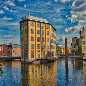 Old Factory buildings in the sea by Dan Westtorp - Buildings & Architecture Architectural Detail