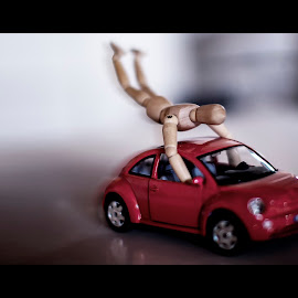 Mission Impossible by Roberto Di Patrizi - Novices Only Objects & Still Life ( car, red, mission, toys, dummy, impossible, beetle,  )