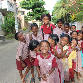 Our Barefoot Soldiers by George Joseph - Babies & Children Children Candids ( school, care, children, happiness, barefoot )