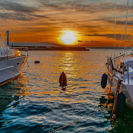 late afternoon by Eseker RI - Transportation Boats (  )