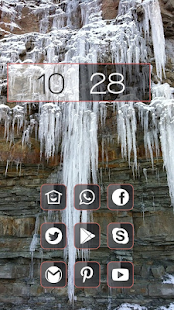 Icicles on a cliff themes - screenshot
