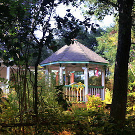 and the living is easy by Leslie Hunziker - Buildings & Architecture Other Exteriors ( architecture, gazebo, back yard )