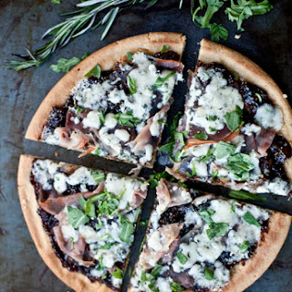 Quinoa Pizza with Prosciutto, Gorgonzola and Balsamic Fig Jam