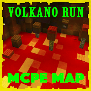 Volcano RUN parkour Map for MCPE Craft