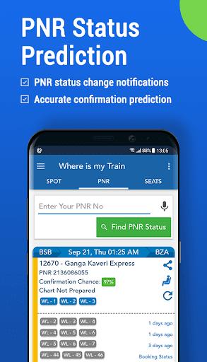 Where is my Train : Indian Railway & PNR Status screenshot 6