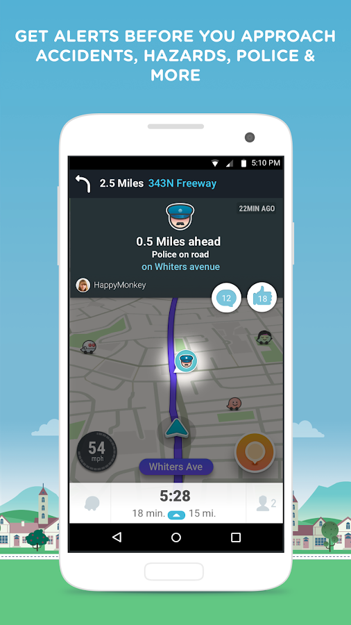 waze gps maps traffic android apps on google play. Black Bedroom Furniture Sets. Home Design Ideas