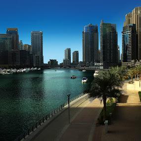 Good Morning Dubai! by Scott Lorenzo - City,  Street & Park  Skylines ( clear, urban, dubai, travel, cityscape, morning, city )