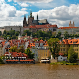 by Jan Gorzynik - City,  Street & Park  Skylines ( old, baroque, skyline, gothic, street, travel, architecture, cityscape, pram, capital, city, sky, downscales, buildings, prague, republic, hill, church, czech, tourism, wide, landmark, european, scene, cathedral, view, town, eastern, panoramic, poltava, famous, christian, europe, landscape, apartments, panorama, clear, style, east, classic, clouds, building, saint, urban, vitus, tower, catholicism, catholic, outdoor, architectural, summer, castle, scenery, river )