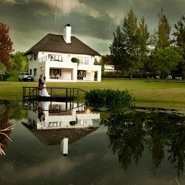 by Kobus Schoeman - Wedding Bride & Groom