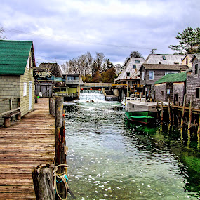Historic Fishtown by Kevin Stacey - Landscapes Waterscapes ( michigan, fish town, leland, fishtown, northern michigan, fishing, leelanau, fisherman )