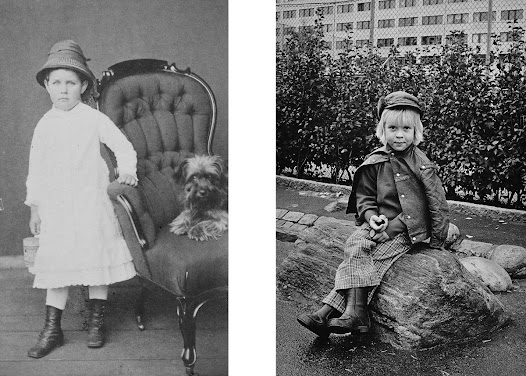 Despite the different conditions, we find similar expressions in these images. Above we see Irma in the 1870's and Björn, 6 years old, in 1973.