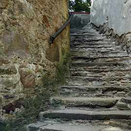 The stairway by Michal Fokt - City,  Street & Park  Historic Districts ( old, stairway, vintage )