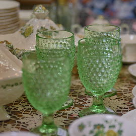 Water Glasses  by Lorraine D.  Heaney - Artistic Objects Cups, Plates & Utensils