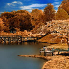 Waduk Panji by Daniel Chang - Landscapes Travel ( fall, color, colorful, nature, relax, tranquil, relaxing, tranquility,  )