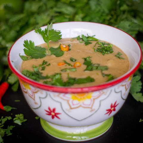 Pressure Cooker Thai Red Curry Lentil Soup