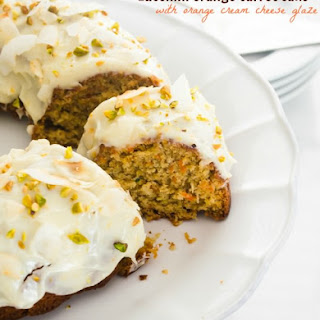 Zucchini Carrot Bundt Cake with Orange Cream Cheese Glaze