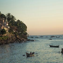 Gamboa de Baixo by Helder Conceição - Landscapes Travel ( brazil, mountain, favela, ville, beach, landscape )
