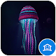 Beautiful blue jellyfish theme